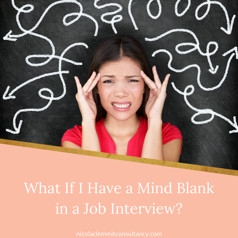 Ever had a mind blank in a job interview? Here are some tips to help.