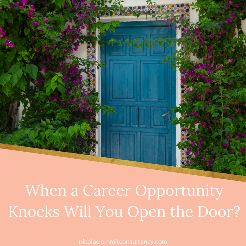 Are you seeing a Career Opportunity that is presented to you?