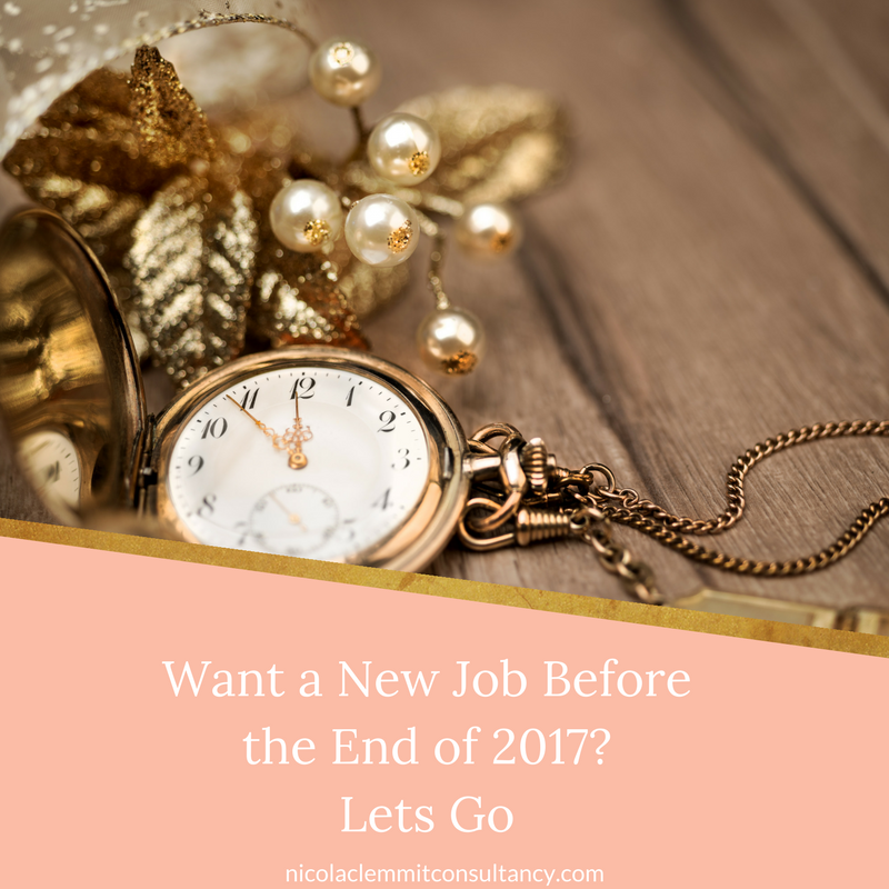 Steps to take to get a new job before the end of 2017