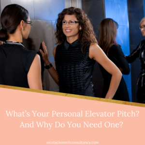 What's Your Personal Elevator Pitch?